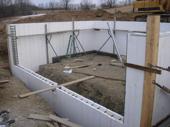 Best built general construction our process house for Basement foundations construction