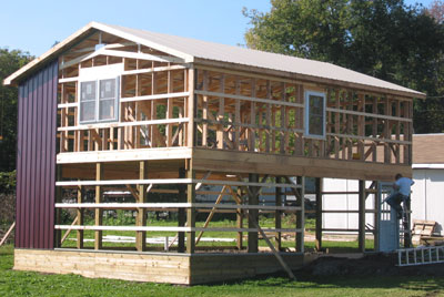 2 story pole barn construction free download pdf woodworking for Two story barn house plans
